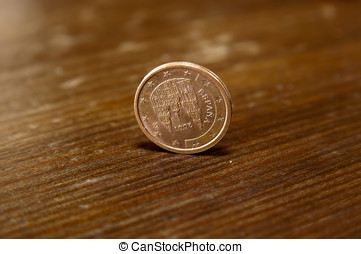 centavos, cinco