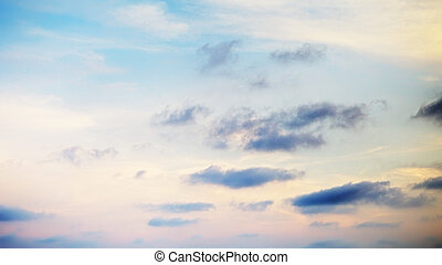 Cloudscape With Stratocumulus Clouds - cloudscape with...