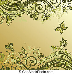 Ornate retro background