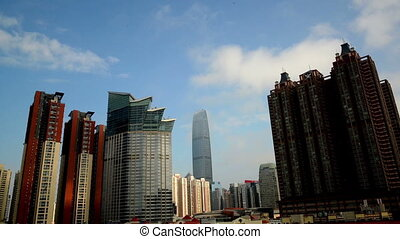 Jingji 100 building and skyscrapers at daytime in Shenzhen,...