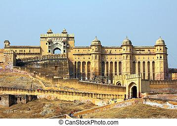 ambre, fort, Jaipur, Inde