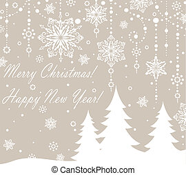 Christmas congratulations card