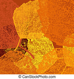 Dry autumn leaves template EPS 10 vector file included