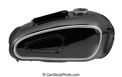 historic motorbike tank - black tank of a historic...