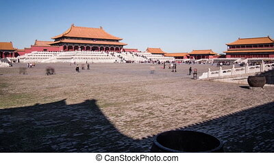 The square and the palace in Gugong - The square and the...