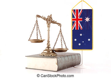 Australian Law and Order - Decorative Scales of Justice on...
