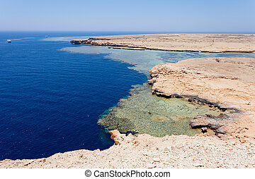 Ras Mohammed - National park Ras Mohammed in Egypt Sea view...