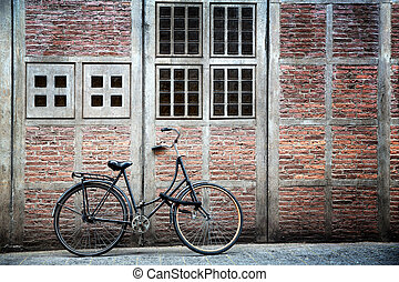 Bike and building