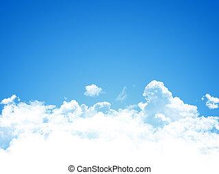 藍色, 天空, 背景