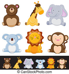 Cute Animal Set - An image of a cute animal set.