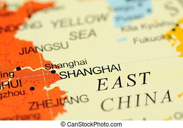 Shanghai on map
