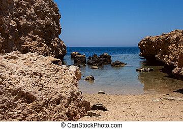 Ras Mohammed - National park Ras Mohammed in Egypt Sea view...