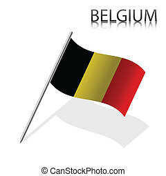 Realistic Belgian flag, vector illustration