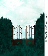 Outdoor Gate Background