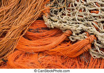 Orange net - Orange fishing nets