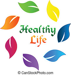 Leafs colorful healthy life logo