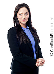 Attractive young corporate woman - Smart young woman...