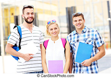 Group of students in the college