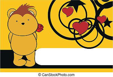 porcupine cartoon cute rose background in vector format very...
