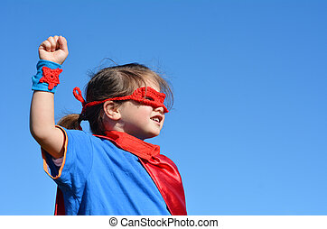 Superhero child - girl power - Superhero child (girl)...