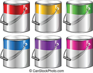 Containers with paint