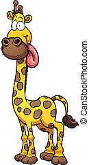 Cartoon giraffe - Silly cartoon giraffe. Vector clip art...