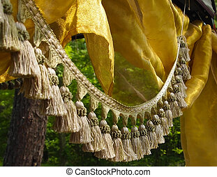 Tassel Fringe and Silk in the Forest - A fringe of luxurious...