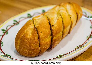 Garlic Bread - Freshly Garlic Bread on the plate