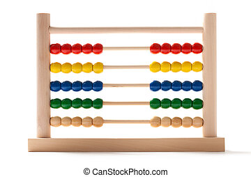 Abacus - Fifty-Fifty - Wooden abacus equally divided on...