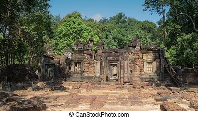 Quiet temple zoom timelapse 1 - Angkor temples complex in...