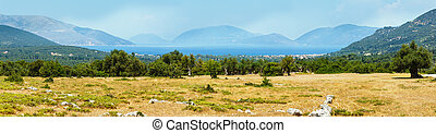 Summer view of the Ithaca island Greece - Summer view of the...