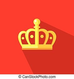 crown crown in flat design style