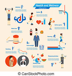 Fitness Infographics - Fitness, nutrition and health...