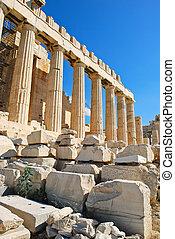 templo,  Parthenon, atenas, Columnas