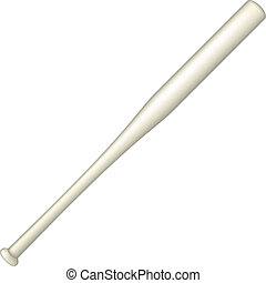 Baseball bat in light design on white background