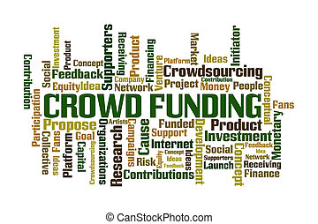 Crowdfunding - Crowd Funding word cloud on white background