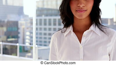 Businesswoman smiling at camera - Pretty businesswoman...