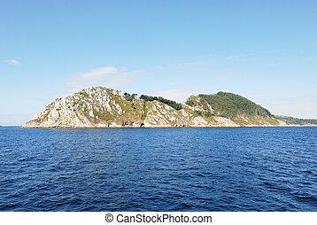 view of Cies Islands (illas cies), Spain - view of Cies...