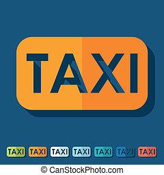 Flat design: taxi