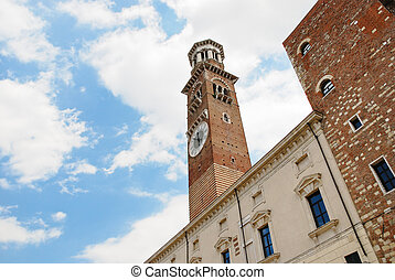Lamberti tower in Verona, Italy - Lamberti tower (Torre dei...