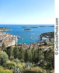 Hvar island in Adriatic Sea, Croatia
