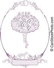 Bridal bouquet, wedding accessories