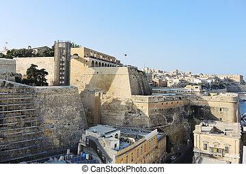 vista,  Valletta,  Malta, edifícios