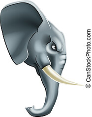 Elephant mascot character - An illustration of a fierce...