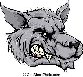 Lobo, mascote, personagem