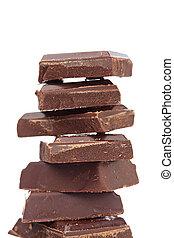 Blocks of chocolate
