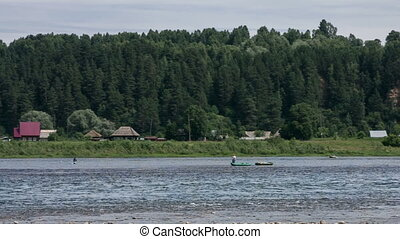On fishing - Fishing on the Tom River in Western Siberia