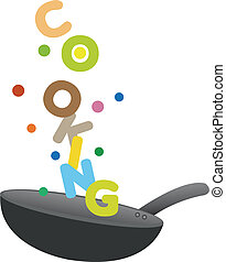 Colorful Cooking Fun - Creative vector illustration of fun...