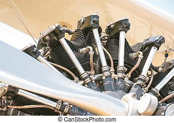 vintage propeller engine
