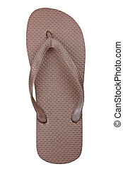 Flipflop - A flipflop or beach sandal isolated on white...